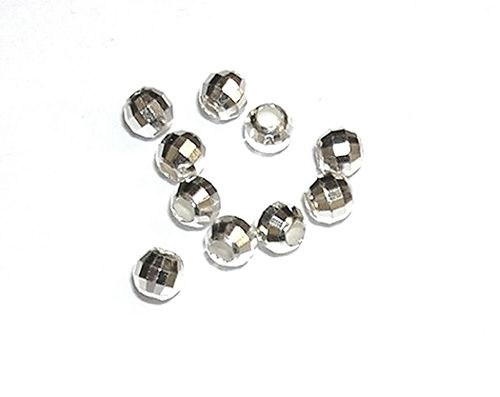 Bolas diamantadas 4 mm Plata de Ley